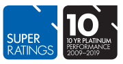 SuperRatings 10 Year Platinum Performance