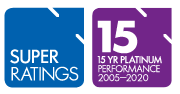 SuperRatings 15 Year Platinum Performance